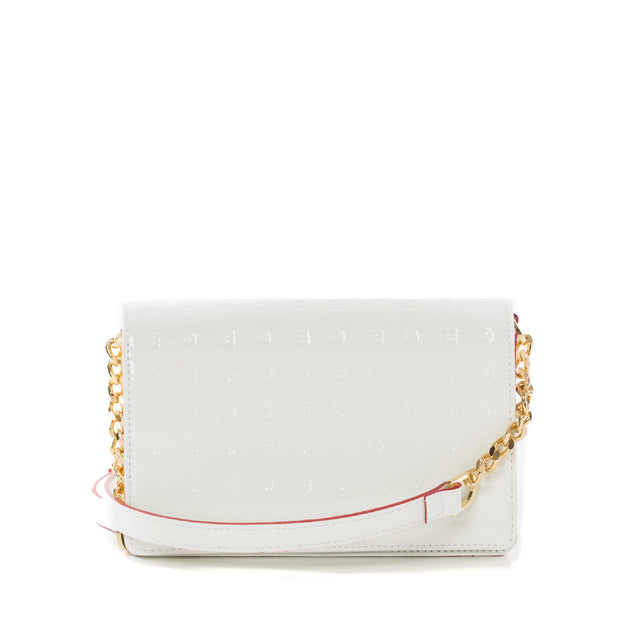 Arcadia White Laura Flap Mini Cross