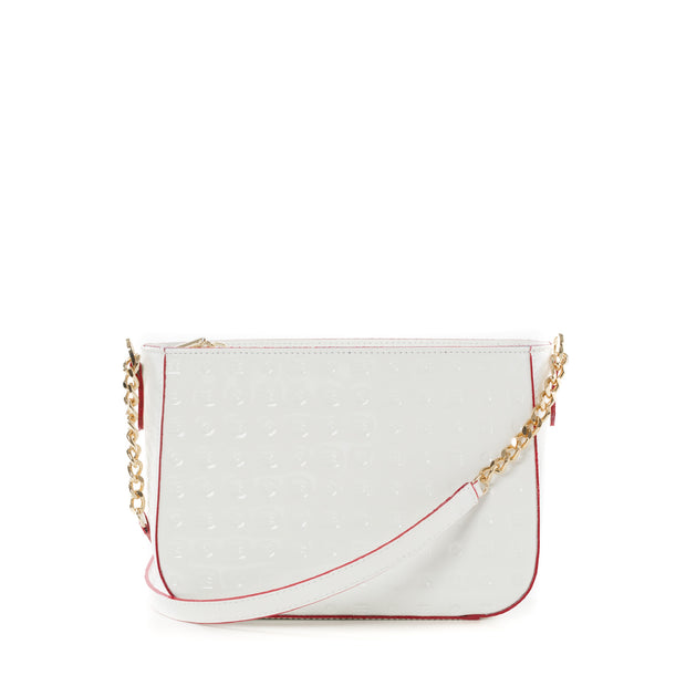 Arcadia White Lorenzo Cross Body Handbag