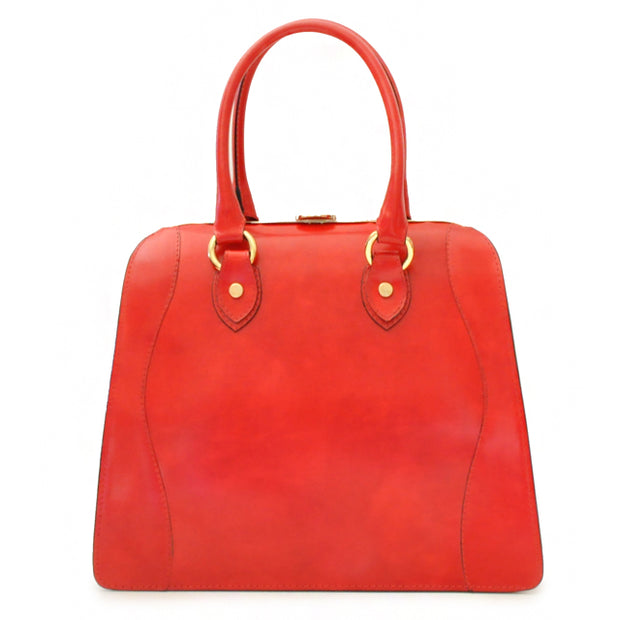 Pratesi Saturnia red leather shoulder bag.