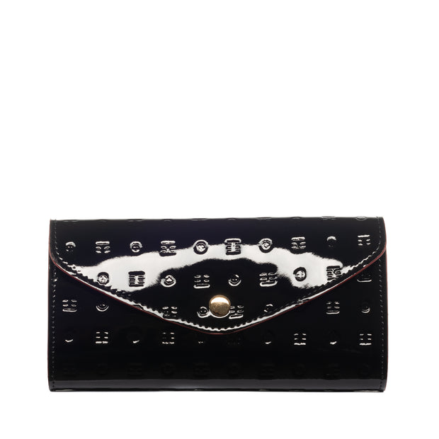 Arcadia Black Flappy Multi Pockets Wallet