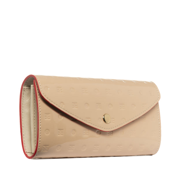 Arcadia Cream Flappy Multi Pockets Wallet