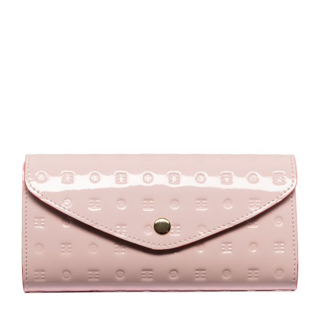 Arcadia Pink Flappy Multi Pockets Wallet