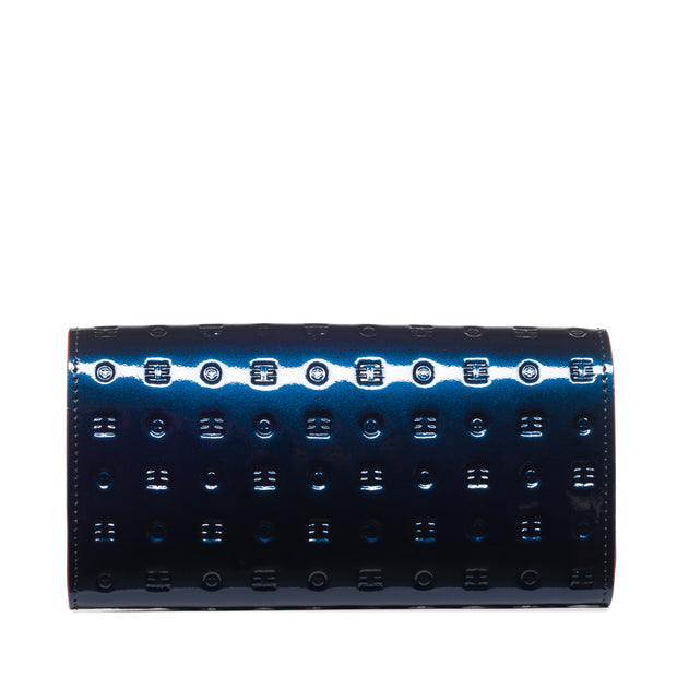 Arcadia Ocean Blue Flappy Multi Pockets Wallet