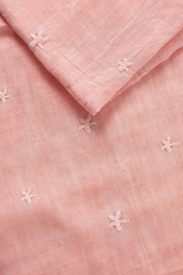 Light Pink Embroidered Stars
