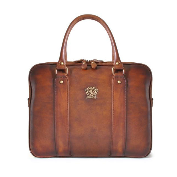 Pratesi brown Magliano bruce leather briefcase.