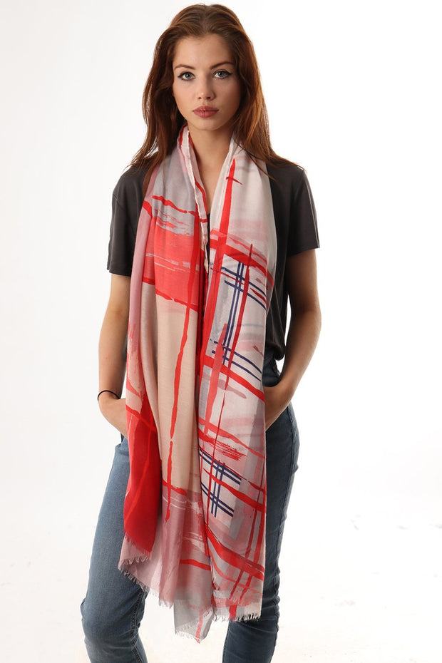 Cross Hatch Printed Scarf
