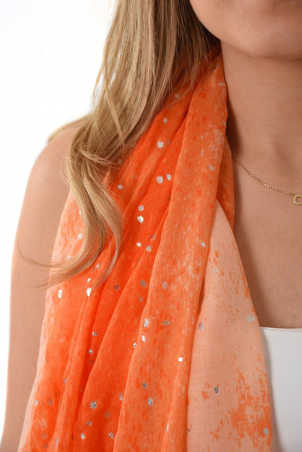 Monochromatic Orange Ombre & Silver