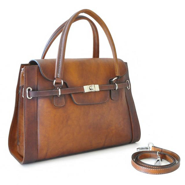 Pratesi brown Baratti leather handbag.