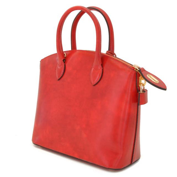 Pratesi Versilia Small red leather hand bag.