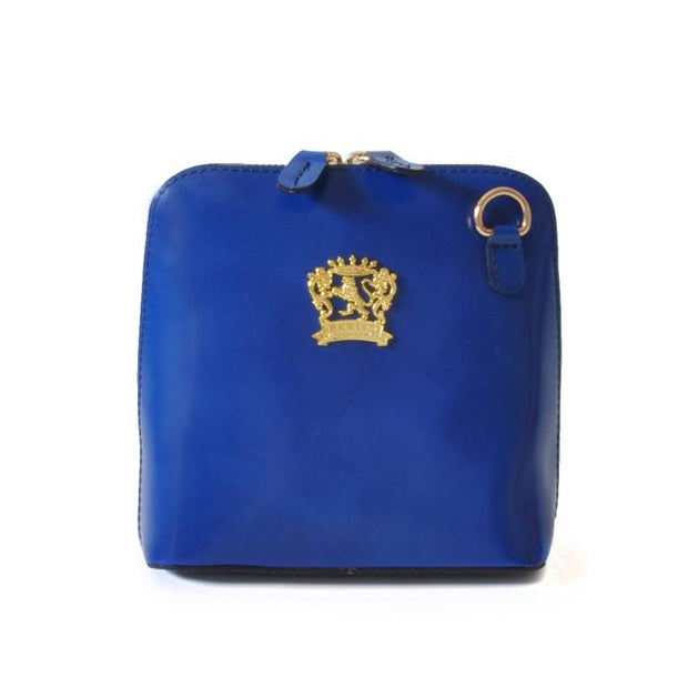 Pratesi Volterra electric blue leather shoulder bag.