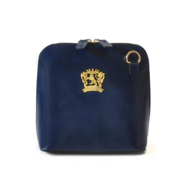 Pratesi Volterra blue leather shoulder bag.