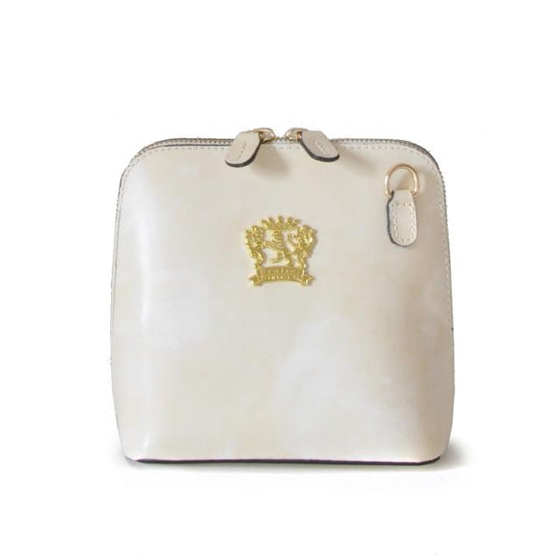 Pratesi Volterra white leather shoulder bag.
