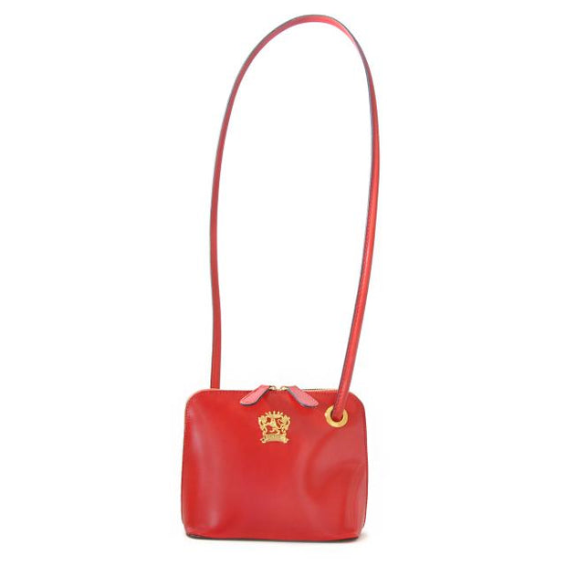 Pratesi Roccastrada red calf leather shoulder bag.