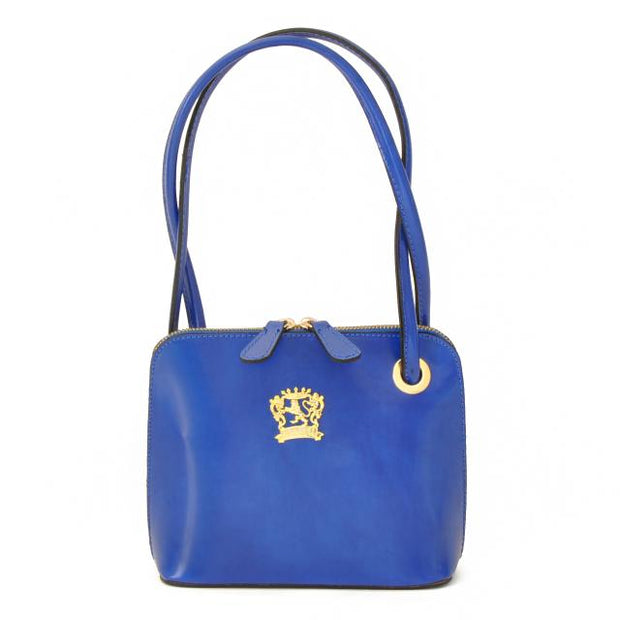 Pratesi Roccastrada electric blue calf leather shoulder bag.