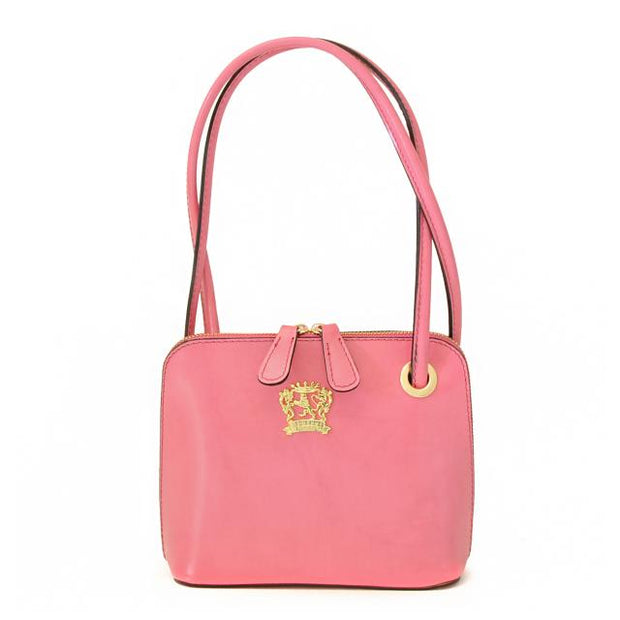 Pratesi Roccastrada pink calf leather shoulder bag.
