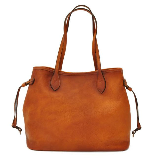 Pratesi Vetulonia brown leather handbag.