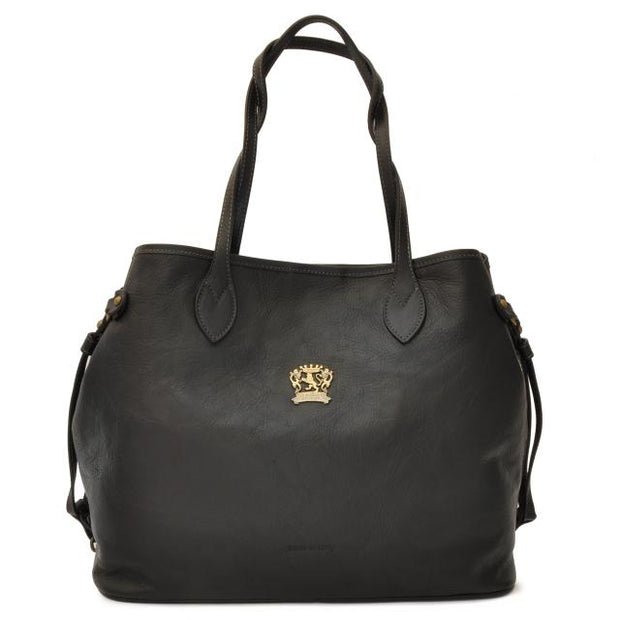 Pratesi Vetulonia black leather handbag.