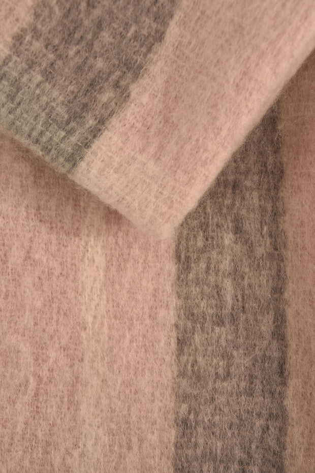 Pink & Grey Soft  Blanket Scarf