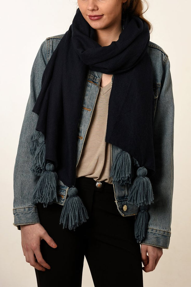 Denim Blue Tassel