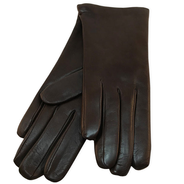 Belmore Boutique brown leather gloves.