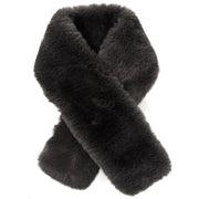Belmore Boutique black short faux fur collar.