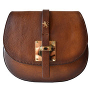 Pratesi Pelago brown calf leather shoulder bag.