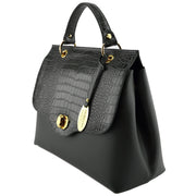 Giordano black Guilia leather handbag.