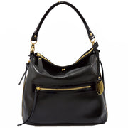 Giordano Sara black leather handbag.