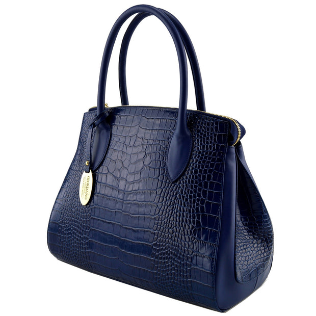 Giordano blue Catherine leather handbag.