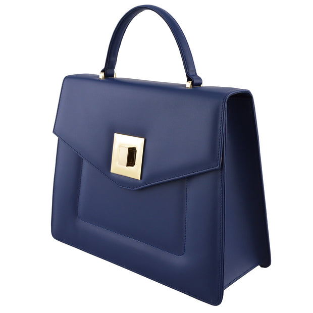 Giordano blue Joyce leather handbag.