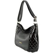 Giordano black Katie leather shoulder bag.