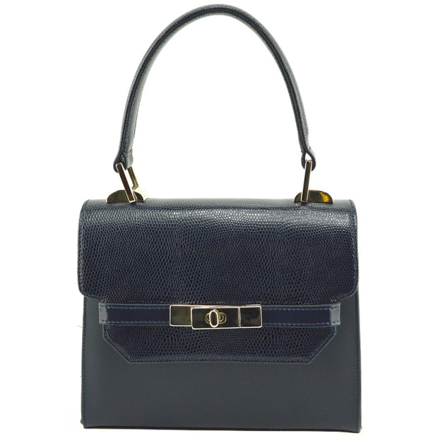 Giordano dark blue Kathy leather handbag.