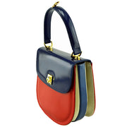 Side view of Giordano Blue / Red Ashley Handbag.