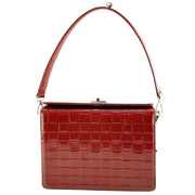 Giordano Stella red patent leather handbag.
