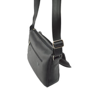 Back of Giordano Terry black leather shoulder bag.