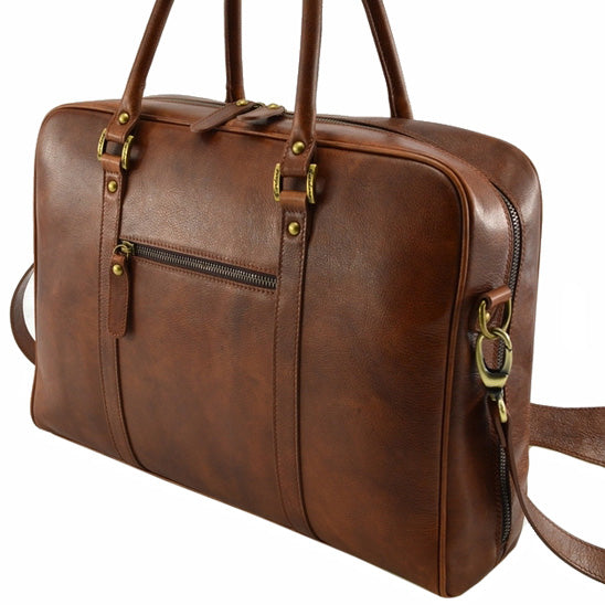 Giordano brown Bristol briefcase / laptop bag.