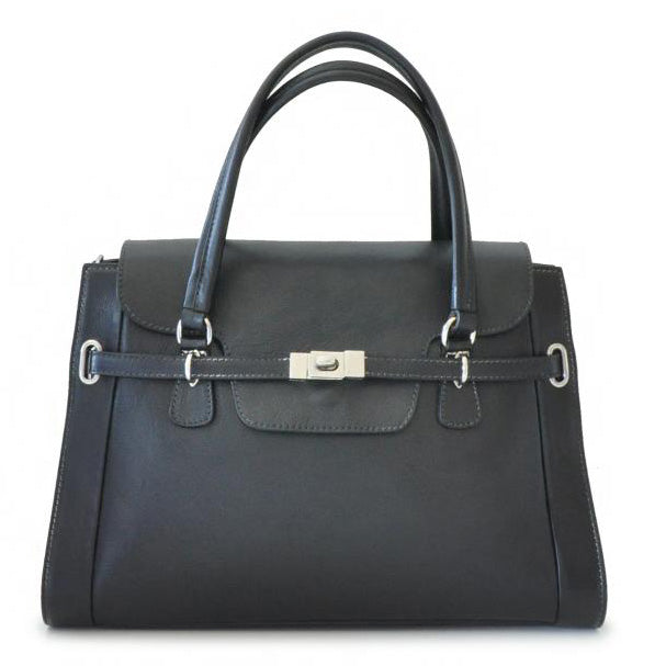 Pratesi black Baratti leather handbag.