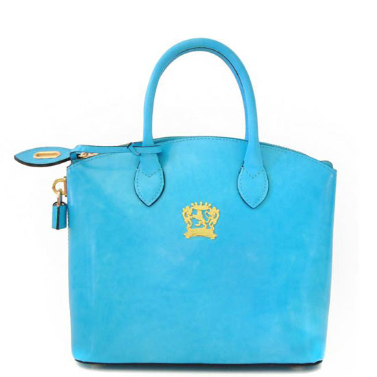 Pratesi Versilia Small sku blue leather hand bag.