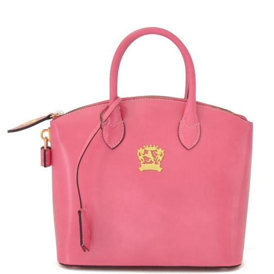 Pratesi Versilia Small pink leather hand bag.