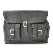Pratesi black Maremma leather shoulder bag.