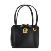 Pratesi Roccastrada black calf leather shoulder bag.