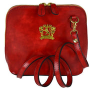 Pratesi Volterra red leather shoulder bag.