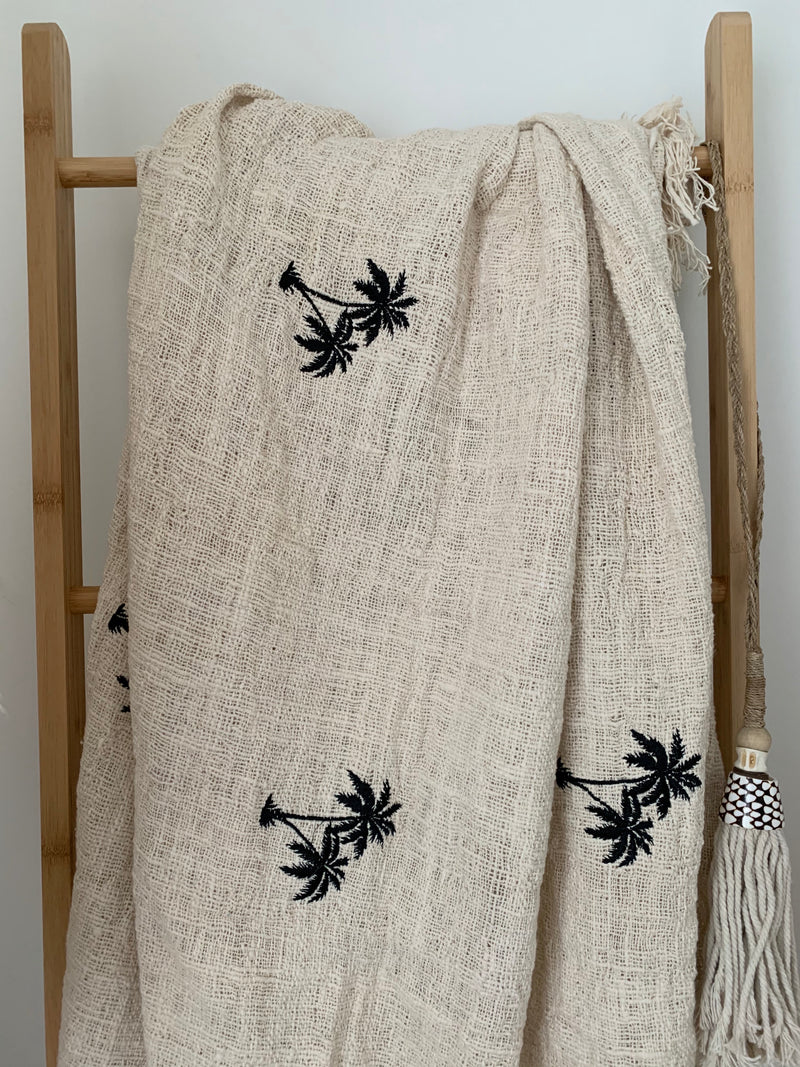 Coastal Palm Throw