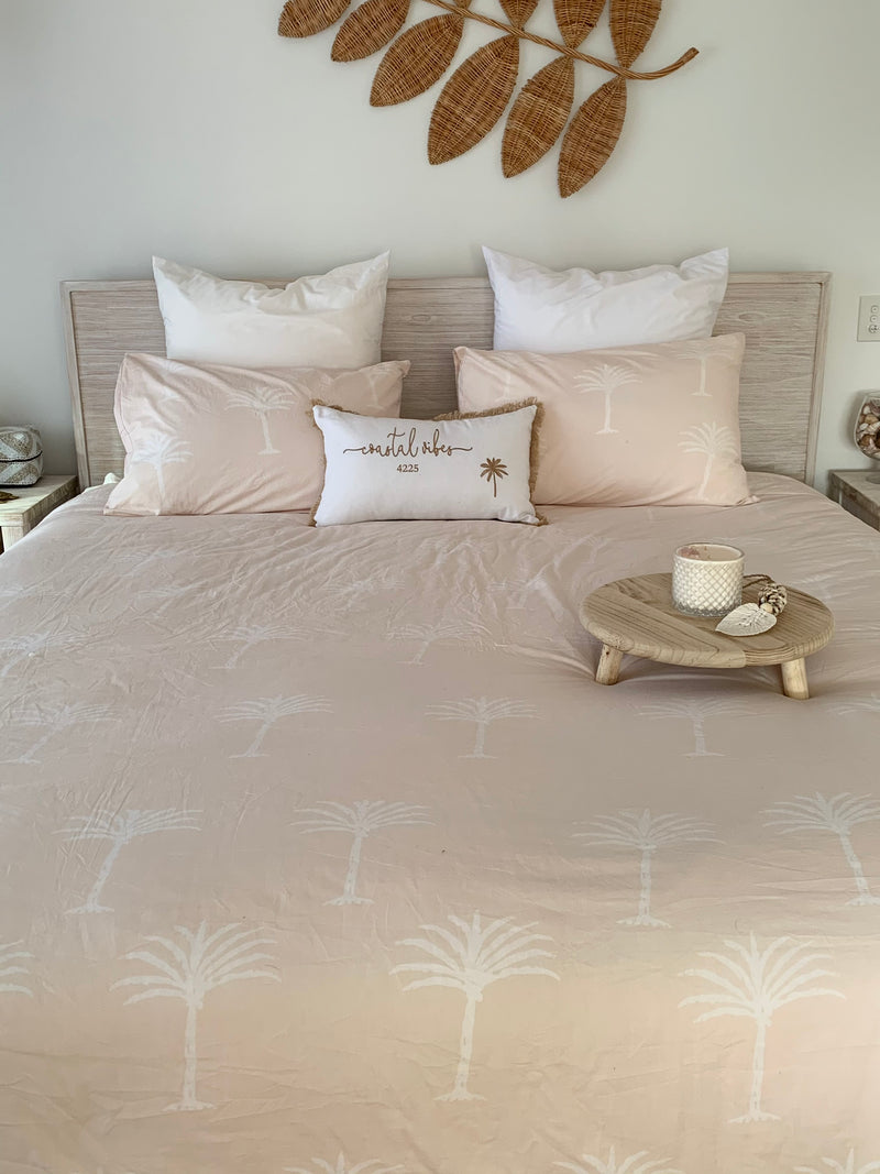 Biscuit Palms Coverlet Set