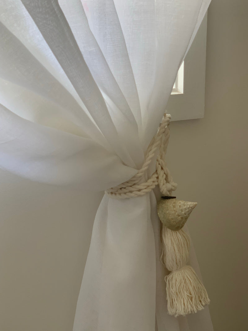 Shell Curtain Ties