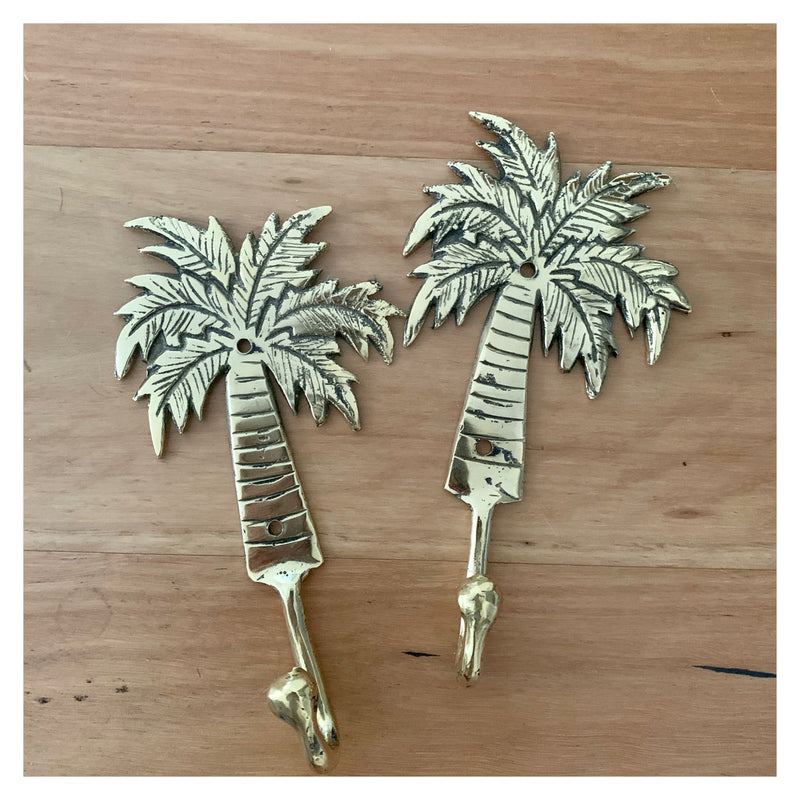 Palm Tree Brass Hook
