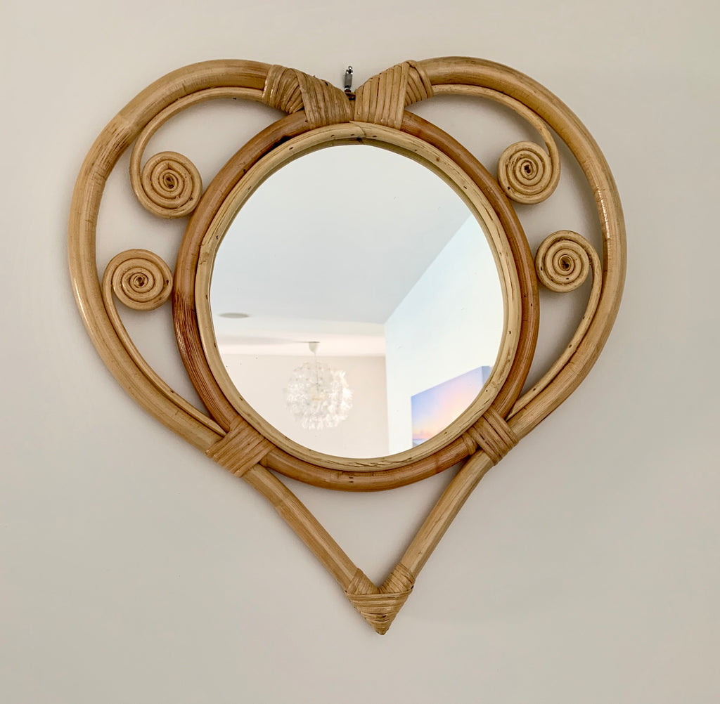 Heart Of Rattan Mirror