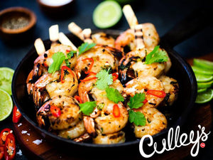 Grilled Prawns with Chilli Cocktail Sauce