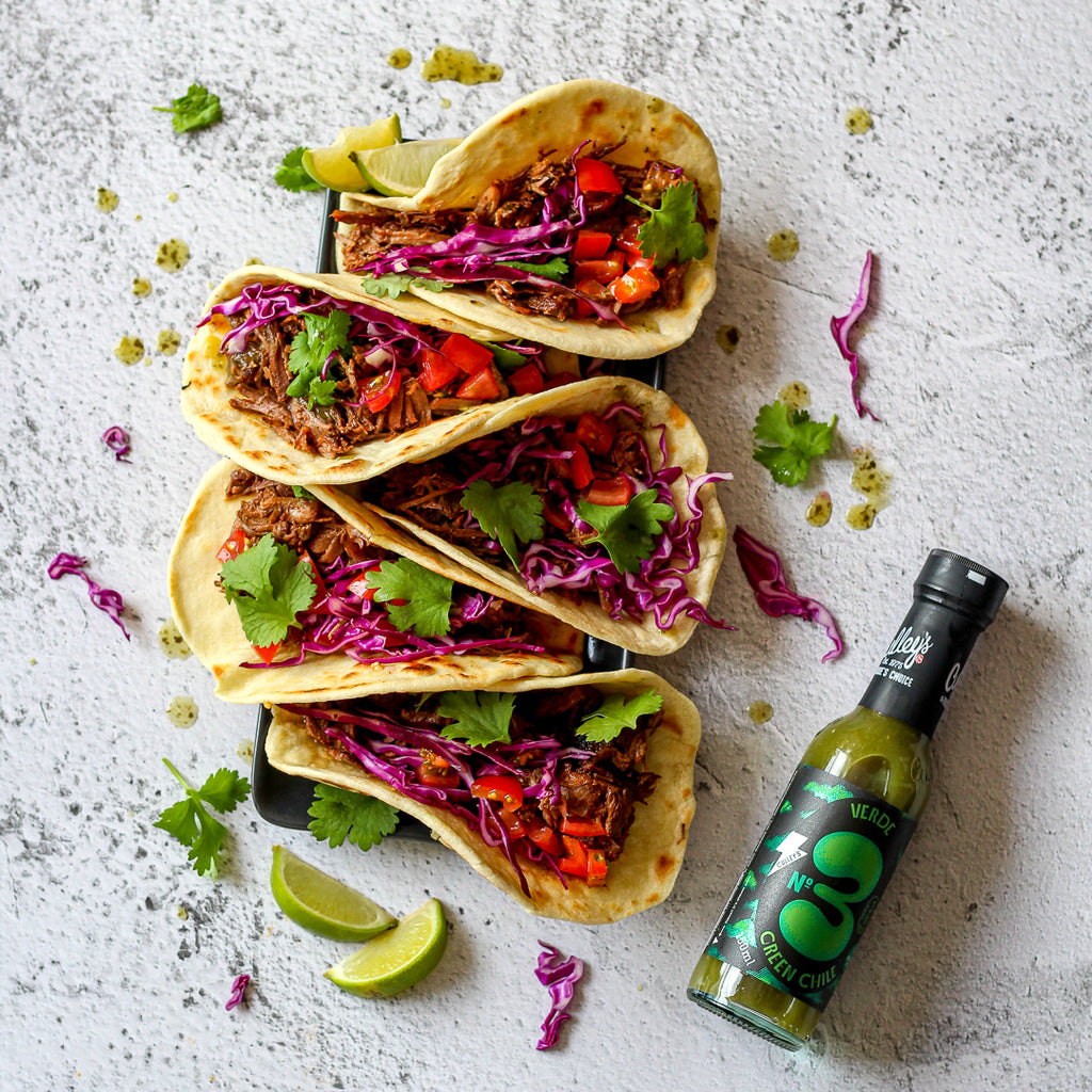 Culley's Mexican Beef Taco with Verde Sauce