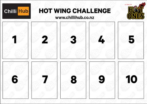 Hot Ones Challenge Placemat & Napkin Set(6 Pack)